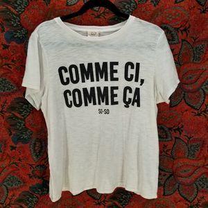 Cinq a Sept 5a7 Comme Ci, Comme Ca T-Shirt Sz M